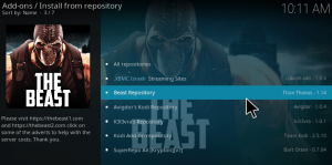 Beast Kodi build download