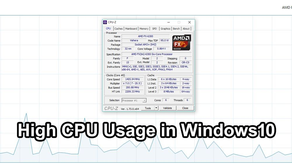 100% CPU Usage in Windows 10