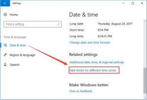 windows 10 desktop clock