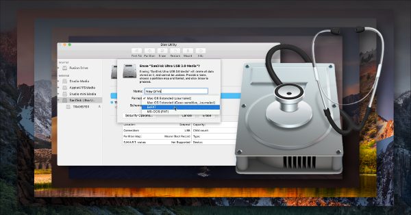 reformat external hard drive mac