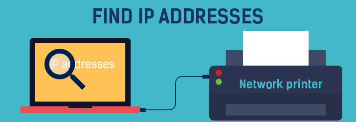 how to find printer ip address mac