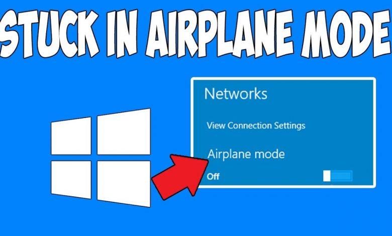 windows 10 stuck in airplane mode