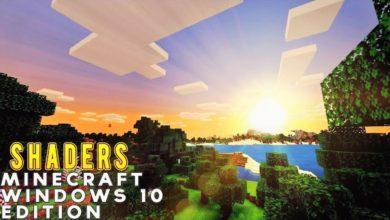 minecraft windows 10 shaders