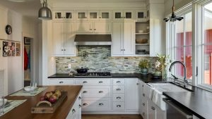 Black & White Kitchen Brimming With Rustic Style