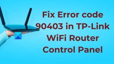 Error code 90403 in TP-Link WiFi Router