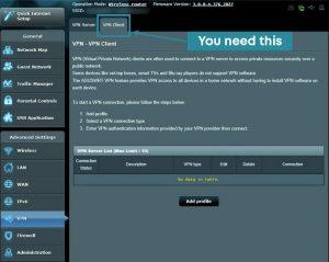 setup vpn router