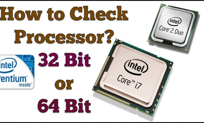 how to check if motherboard is 32 or 64-bit