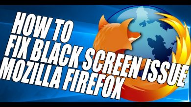 firefox black screen