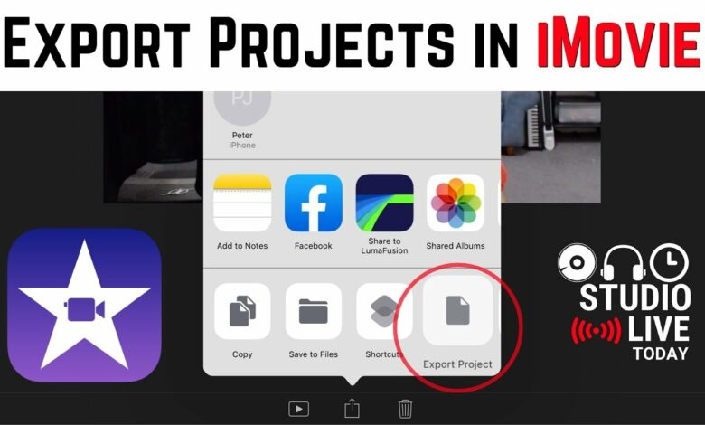 How to export iMovie project on Mac