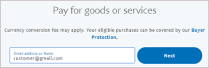 paypal goods and services