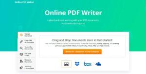 Online PDF Writer