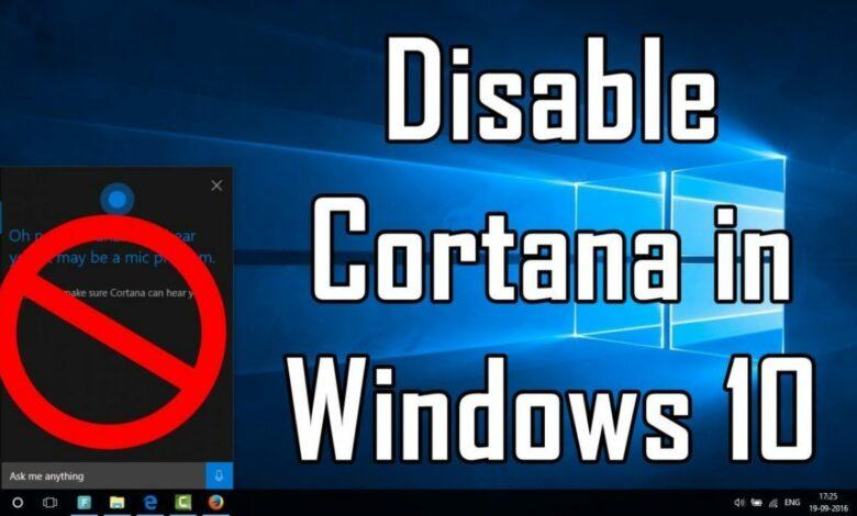 How to Turn Off Cortana